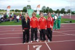 Zoe Priestley, Matthew Richards, Lucy Griffiths and Lauren Bell at Celtic Cup Dublin Aug 2010