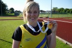 Lucy Griffiths Gold medal winner Welsh Champs Cardiff 2010
